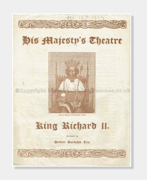 1903 His Majesty's Theatre, King Richard II, Shakespeare