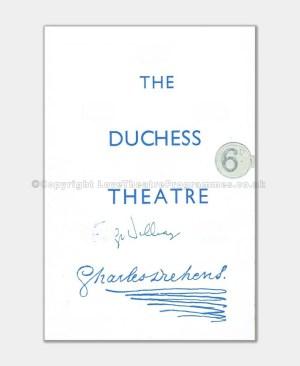 1952 Emlyn Williams Duchess Theatre