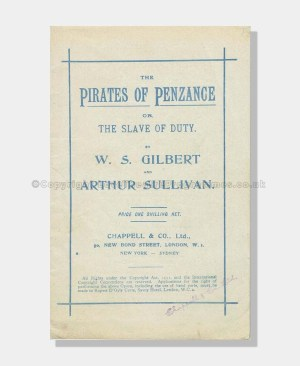 1944 Pirates of Penzance Lyrics