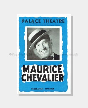 1955 MAURICE CHEVALIER Palace Theatre