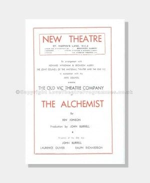 1947 THE ALCHEMIST New Theatre