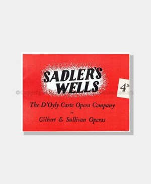1949 HMS PINAFORE Sadler's Wells D'OYLY CARTE