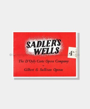 1949 THE GONDOLIERS Sadler's Wells D'OYLY CARTE