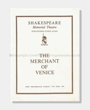 1956 MERCHANT OF VENICE Shakespeare Memorial Theatre