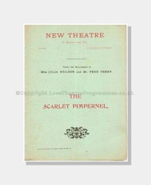 1905 THE SCARLET PIMPERNEL NEW THEATRE Julia Neilson
