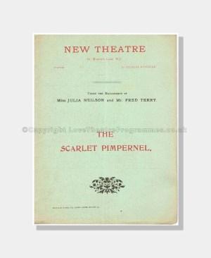 1905 THE SCARLET PIMPERNEL NEW THEATRE Julia Neilson