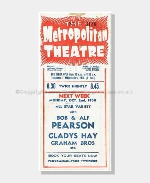 1950 HARRY SECOMBE Metropoliton Theatre