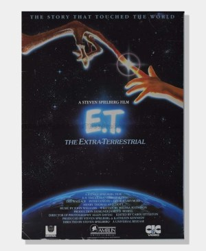 1982 E.T. Extra Terrestrial FILM POSTER