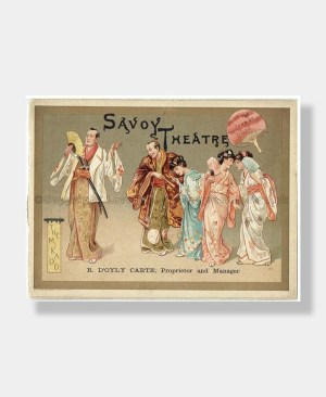 1885 THE MIKADO Savoy Theatre D'OYLY CARTE
