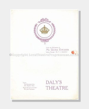 1911 THE COUNT OF LUXEMBOUG Daley's Theatre