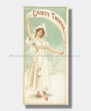 1895 THE SHOP GIRL Gaiety Theatre1895 THE SHOP GIRL Gaiety Theatre