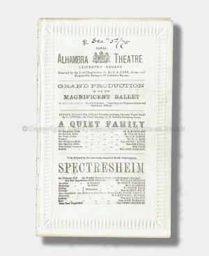 1875 FLOWER QUEEN Royal Alhambra Theatre