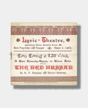 1889 THE RED HUSSAR Lyric Theatre