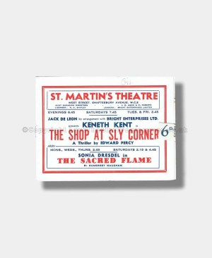 1945 THE SHOP AT SLY CORNER St Martin's Theatre