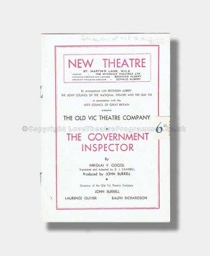 1948 THE GOVERNMENT INSPECTOR New Theatre