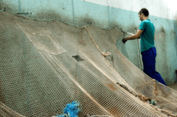 Fishing nets being prepared for regeneration. Photos – ECONYL®