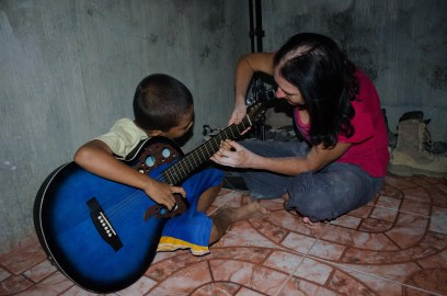 Bebong my youngest guitar student.