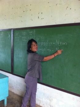 teacher from tanza and her new blackboard