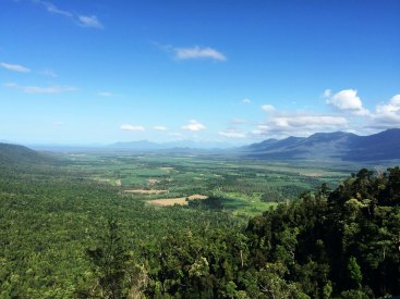 view from kirrama range to hinchinbrook