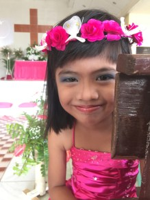 Wedding of Nichol and Ronalyn - beautiful flowergirl in church