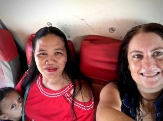 tita em and tita mel sweating on the bus