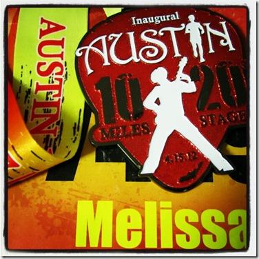 austin 1020 bib and medal