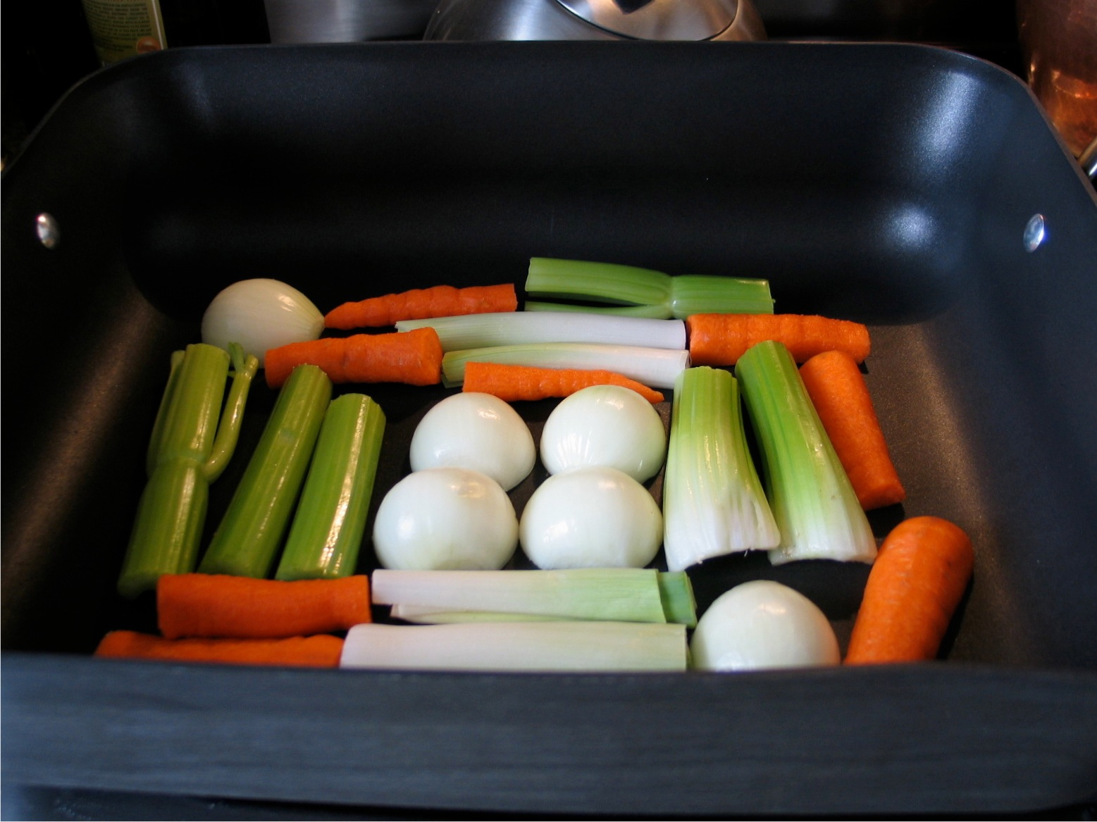 Turkey vegetable rack.