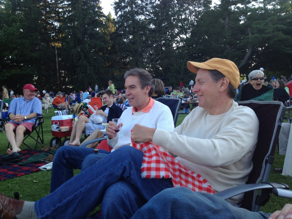 Two brothers at Tanglewood.