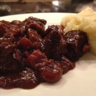 Best beef ste on a plate with mashed potatoes - adapted Lee Bailey's recipes.