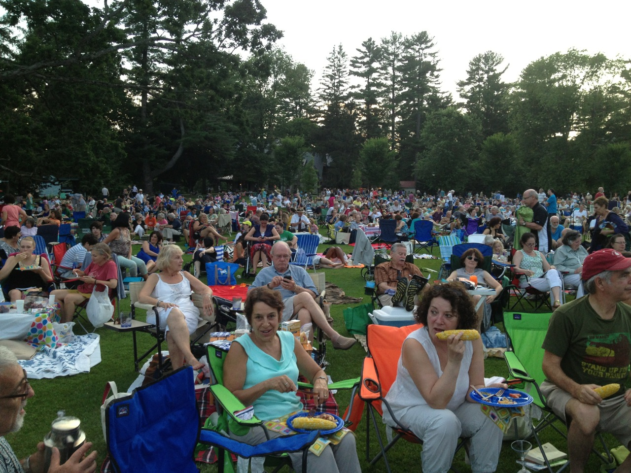 The Tanglewood crowd.