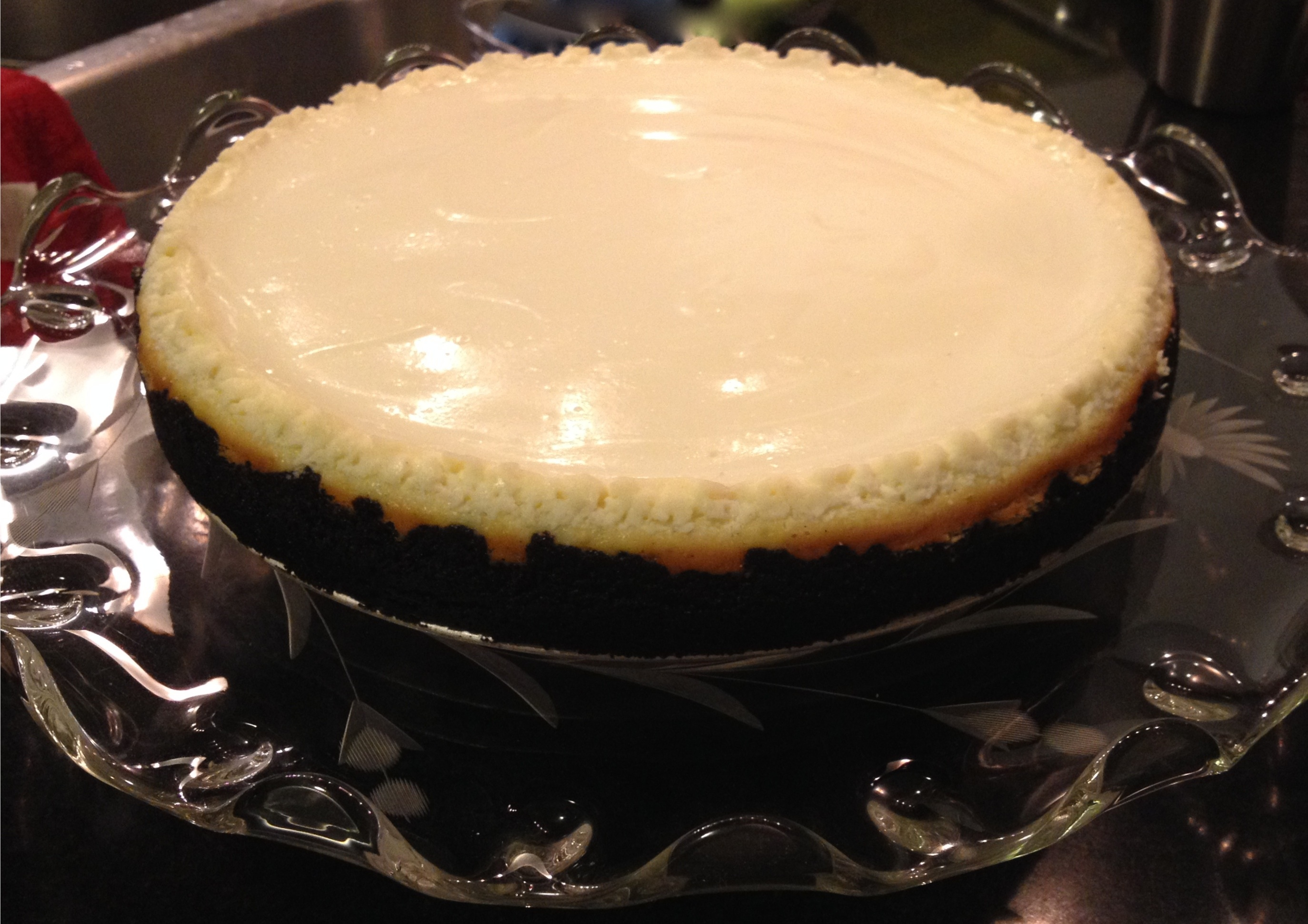 sour cream topped cheesecake