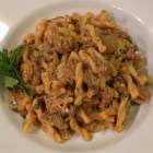 Cumin lamb and eggplant pasta