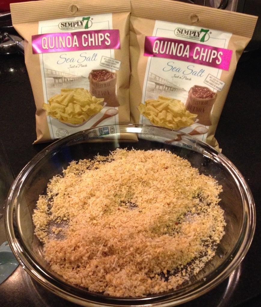 Simple7 quinoa chips crust coating
