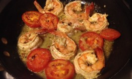 Get Bolder with Smoulder! Shrimp and Tomato Appetizer