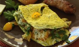 Spinach Dip Mix Omelette