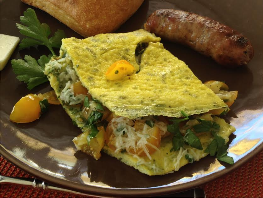 Spinach mix spinach omelet piece from Oct 19, 2014