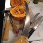 Pie pumpkin cutting tools.