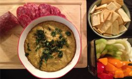 Red Snapper Artichoke dip with other appetizers.
