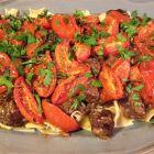 Spicy Beef Ragout on platter.