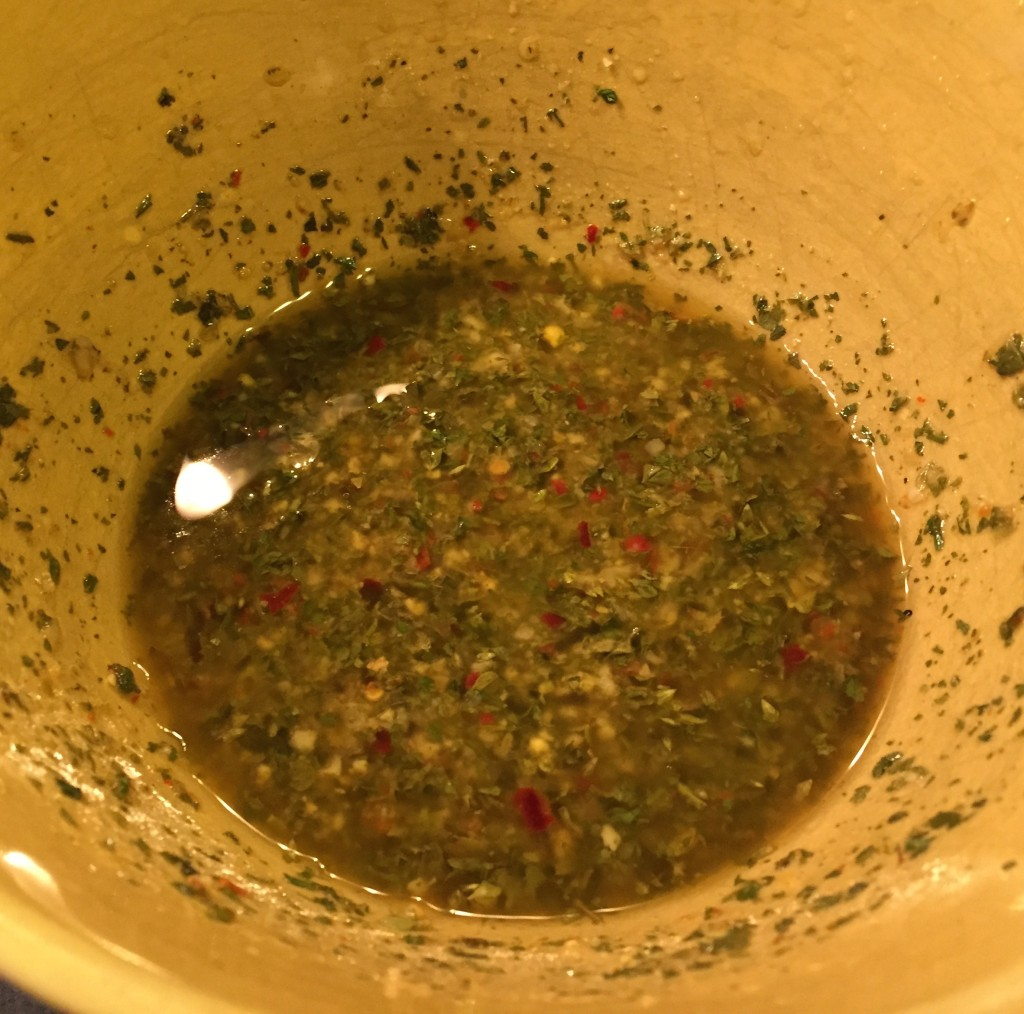 SambaFlavor Chimichurri in a bowl.