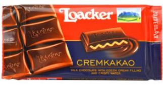 Loacker Cremkakao chocolate bar;