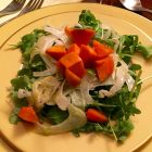 Arugula fennel and persimmon salad.