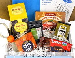 MARY's secret ingredients 2015 spring box.