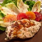 Just Jan's Tangerine Marmalade finished chicken with endive and blood orange salad.