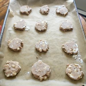 The Tea Spot Meditative Mind Shortbread cookies on baking pan