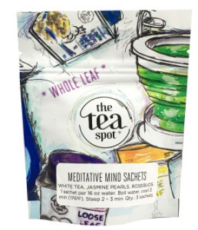 The Tea Spot Meditative Mind tea sachets package.