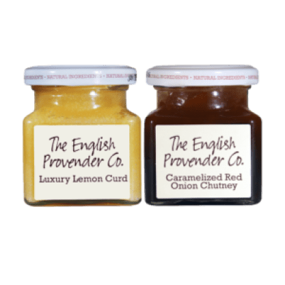 English Provender Caramelized Red Onion Chutney and Luxury Lemon Curd.
