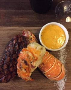 Surf and Turf dinner in Krakow.