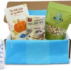 Our 2016 Fall culinary MARY's secret ingredients subscription box open with all products visible.