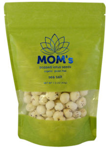 MOM's Popped Lotus Seeds, Sea Salt flavor.